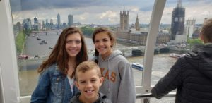 Barton children in London.