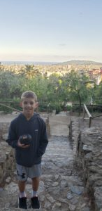 Thomas at Güell Park.